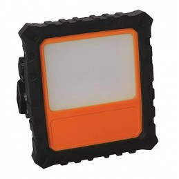Projecteur de chantier à LEDs - 20 W - Rechargeable par USB