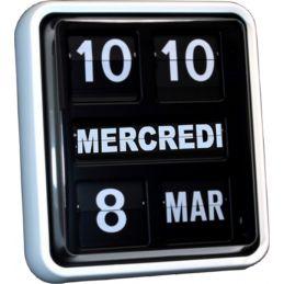 Horloge à chiffres sautants - Calendrier perpétuel à palettes - Grand format
