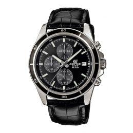 Montre Casio Edifice Chrono au 1/10s - Bracelet cuir noir