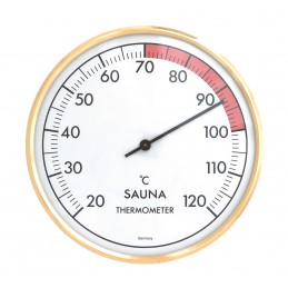 Thermomètre de sauna à aiguille - Laiton