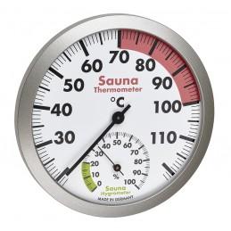 Thermo/hygromètre de sauna - Lunette polycarbonate
