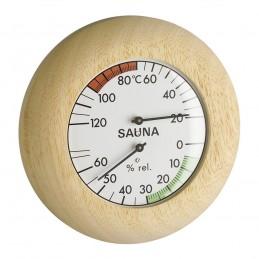 Thermo/hygromètre de sauna - Lunette hêtre massif