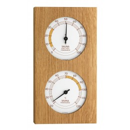 Thermo/hygromètre de sauna - Plaque chêne huilé