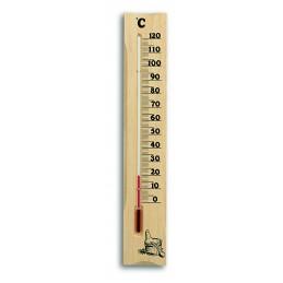 Thermomètre de sauna à liquide - Pin massif