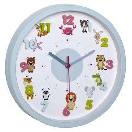 """Horloge analogique diam. 300mm - Décoration enfantine """"animaux"""""""