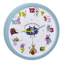 """Horloge analogique diam. 300mm - Décoration enfantine """"monstres"""""""
