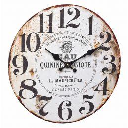 """Horloge murale 300mm - Cadran """"Vintage parfum"""""""
