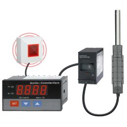 Sonomètre digital avec sonde deportée - 2 relais NO