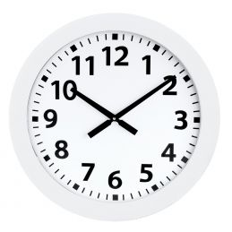 Horloge murale blanche diam. 600mm - Sur pile