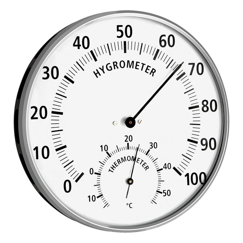 Thermomètre/hygromètre mural - Diamètre 132 mm