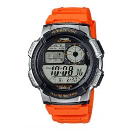 Montre Casio multisport Chrono/Timer - Coloris Orange