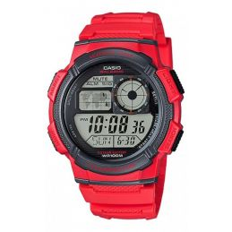 Montre Casio multisport Chrono/Timer - Coloris Rouge