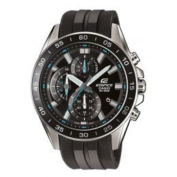 Montre Casio Edifice - Chrono / Dateur - Bracelet résine noir