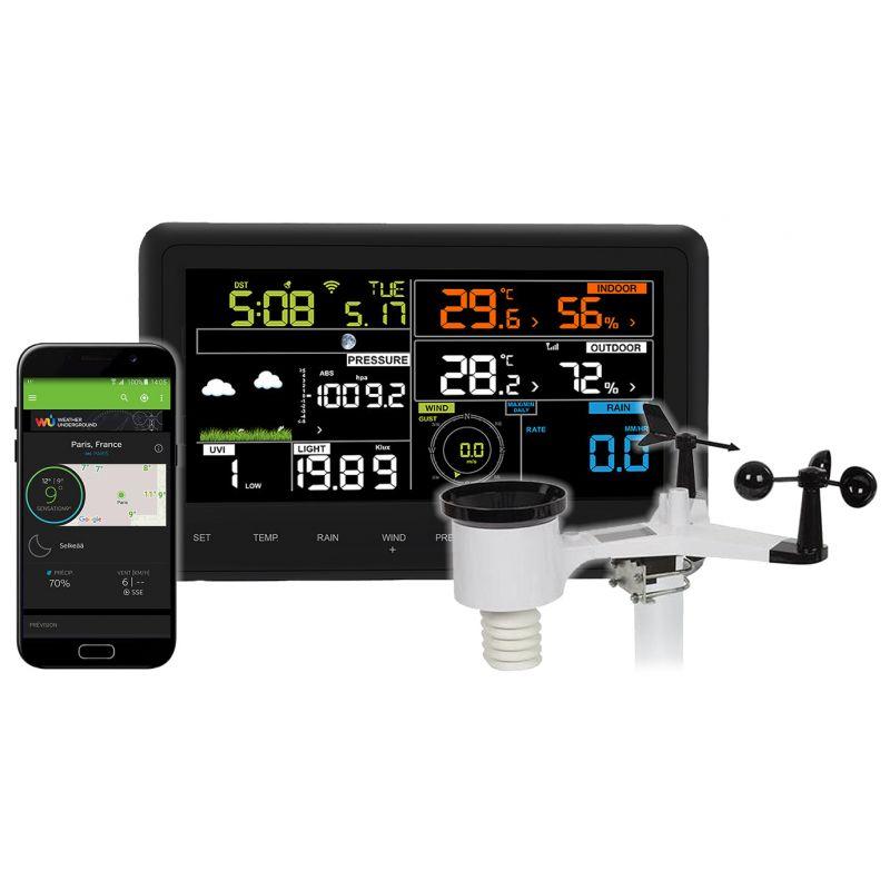 Station météo digitale multiparamètre et connectée Wifi