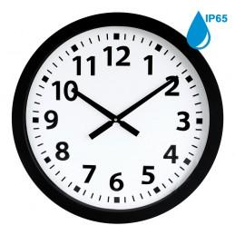 Horloge à aiguilles diam. 600mm - Boîtier noir étanche IP65