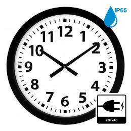 Horloge à aiguilles diam. 600mm - Boîtier noir étanche IP65 - Alim 230 VAC