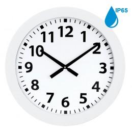Horloge à aiguilles diam. 600mm - Boîtier blanc étanche IP65