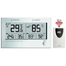 Double thermo/hygromètre intérieur et extérieur sans fil avec émeteur
