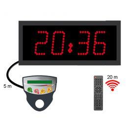 Chronomètre horloge exterieur a diodes comptant-decomptant - 4 chiffres