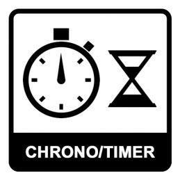 Chronomètre 3 lignes - 200 mémoires - Pile isolée