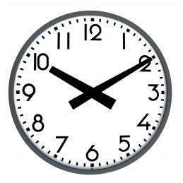 Horloge extérieure radio pilotée - Diam 600mm - Double face